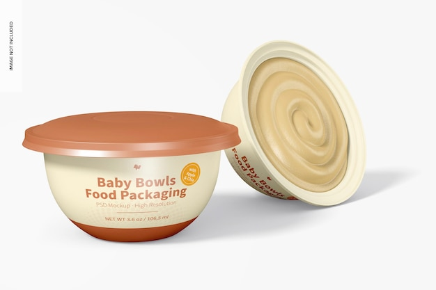 Mockup voor voedselverpakkingen voor baby's