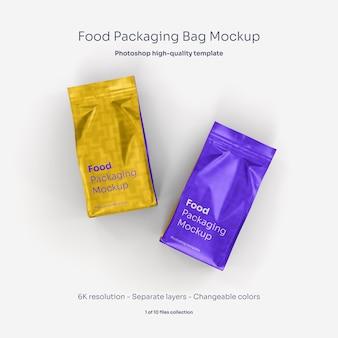Mockup voor voedselverpakkingen