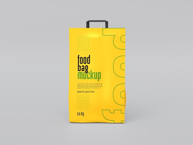 Mockup voor voedselzakverpakking