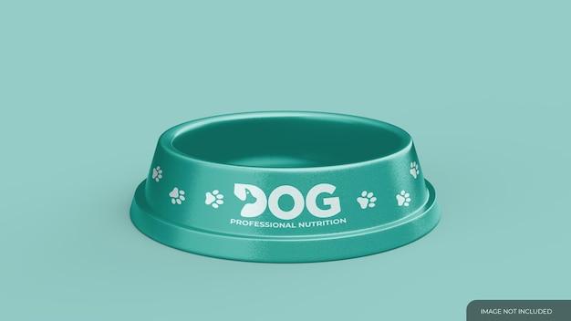 Mockup voor voerbak voor huisdieren