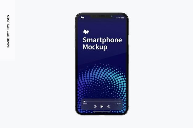 Mockup voor vooraanzicht van smartphone