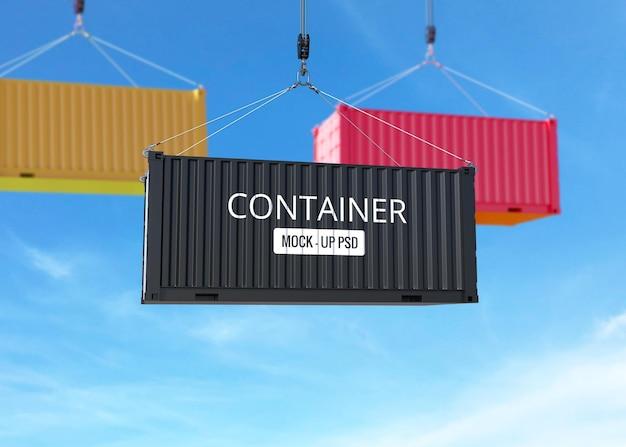Mockup voor vrachtcontainers