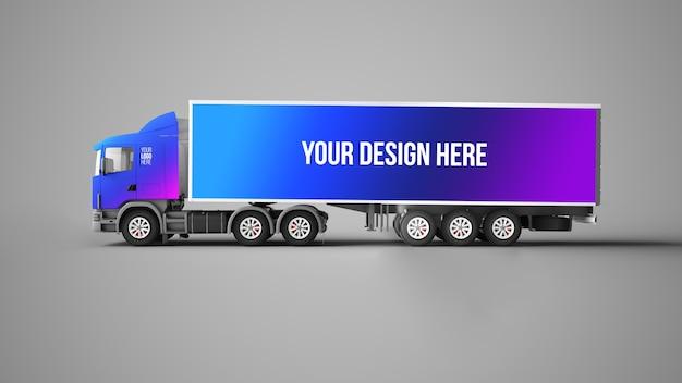Mockup voor vrachtwagens