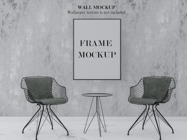 Mockup voor wand en frame in modern interieur