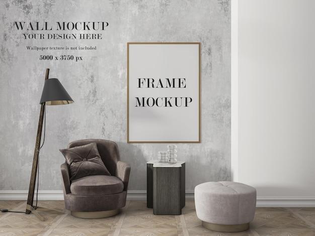 Mockup voor wand- en frameontwerp
