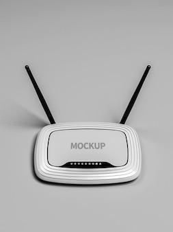 Mockup voor wifi-netwerkrouter