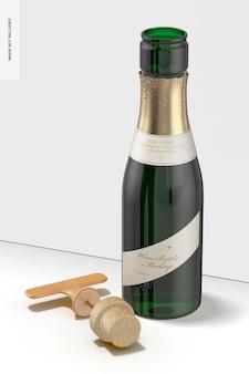 Mockup voor wijnflessen van 187 ml