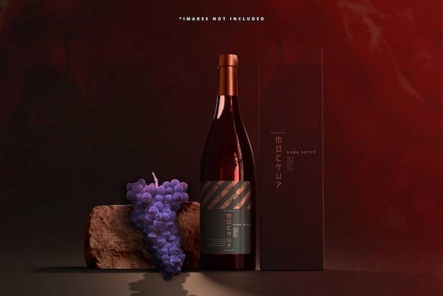 Mockup voor wijnflessen
