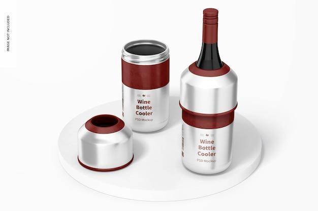 Mockup voor wijnflessenkoelers