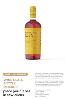 Mockup voor wijnglazen flessen