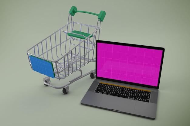 Mockup voor winkelwebsite