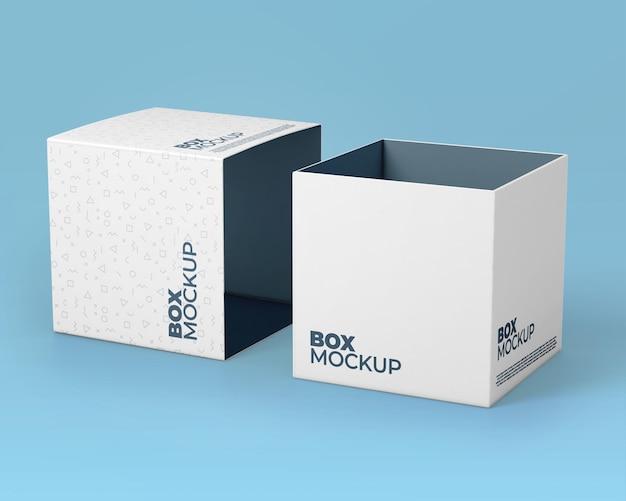 Mockup voor witte dozen