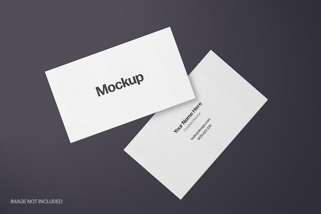 Mockup voor zwevende visitekaartjes van 35x2 inch