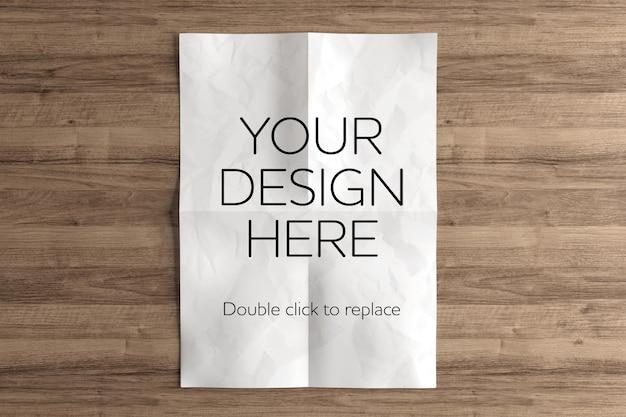 Mockup-weergave van a4-papier