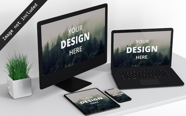 Mockup-weergave voor meerdere apparaten