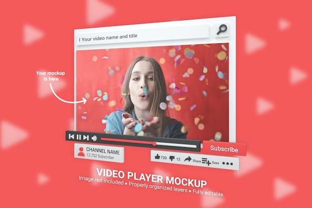 Mockup youtube-videospeler