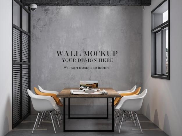 Mockupmuur voor kleine vergaderruimtes op kantoor