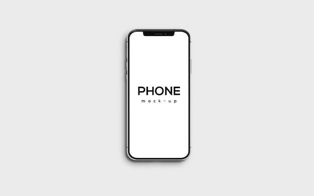 Mockupontwerp van smartphone op volledig scherm
