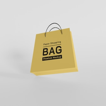 Mockupontwerp voor papieren boodschappentas premium psd Premium Psd