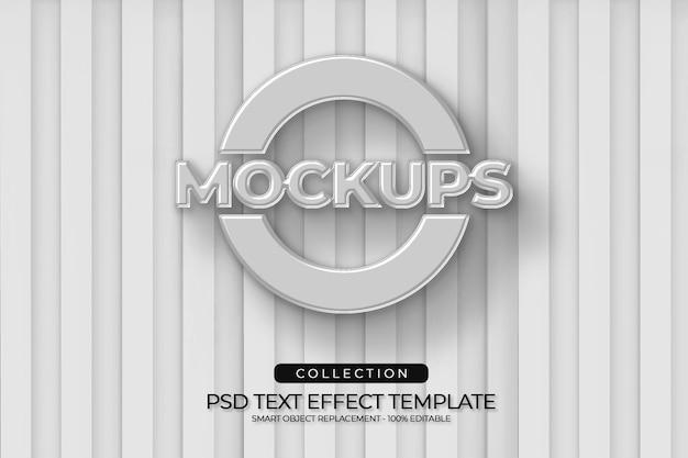 Mockups 3d-ballon in logo-stijl met witte kleur van palethout