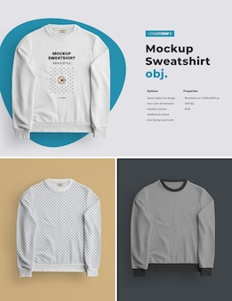 Mockups geïsoleerd heren sweatshirt. ontwerp is gemakkelijk in het aanpassen van afbeeldingen ontwerp (op sweatshirt, mouwen en label), kleur sweatshirt met alle elementen
