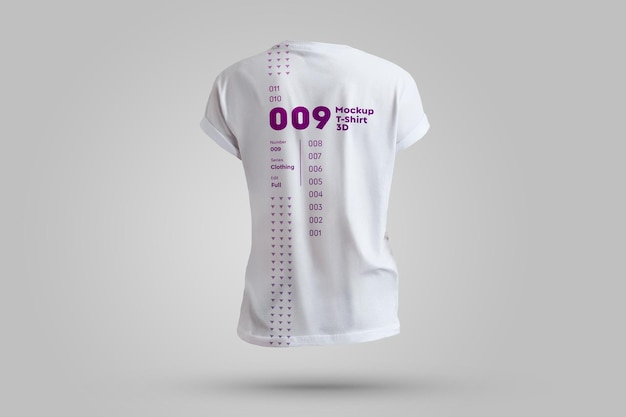 Mockups heren t-shirts 3d