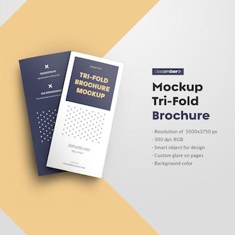 Mockups leafleat dl driebladige brochure