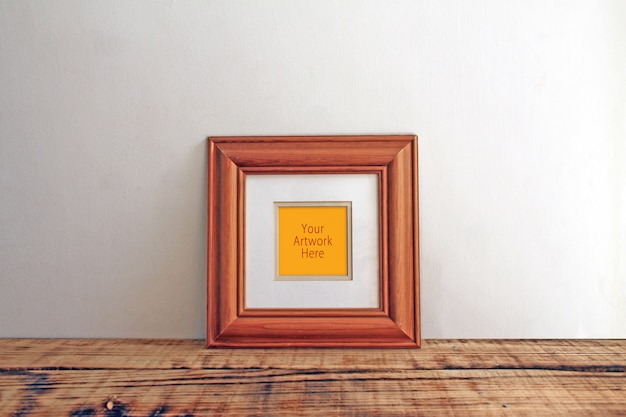 Mockups met houten frame