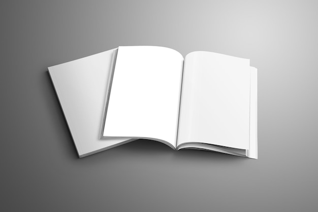 Mockups van de brochure, catalogusformaat a5 en a4
