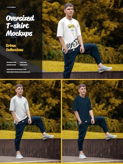 Mockups van oversized t-shirts