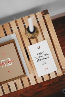 Mockups van papieren documenten