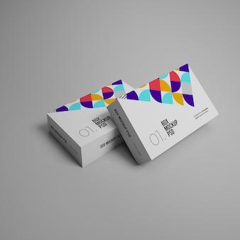 Mockups voor 3d-pakketdozen