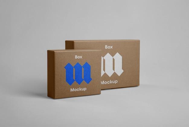 Mockups voor de voorste doos