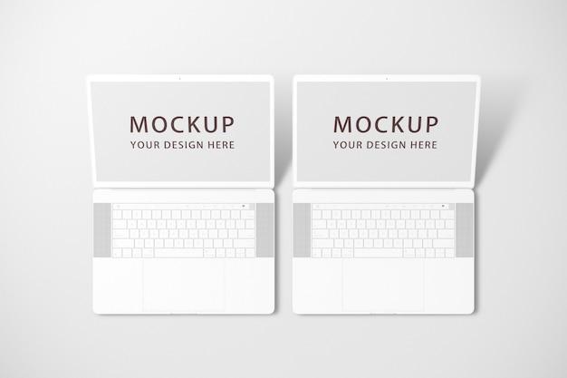 Mockups voor laptop of notebook