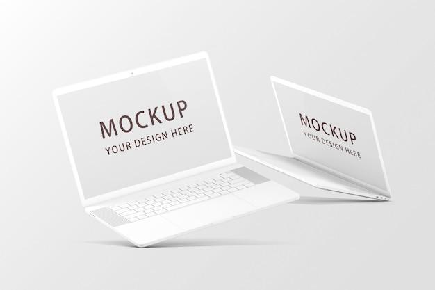 Mockups voor notebooks of laptops