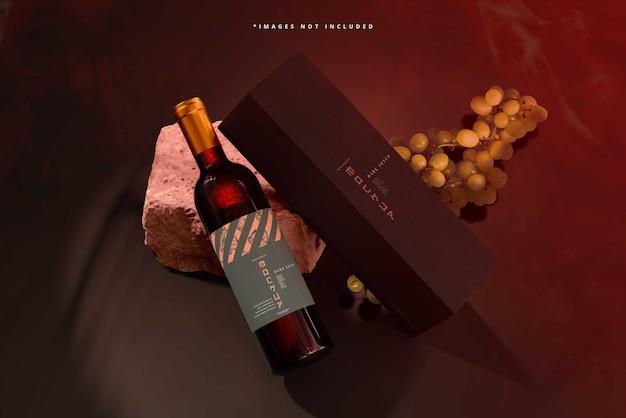 Mockupscène voor wijnbranding