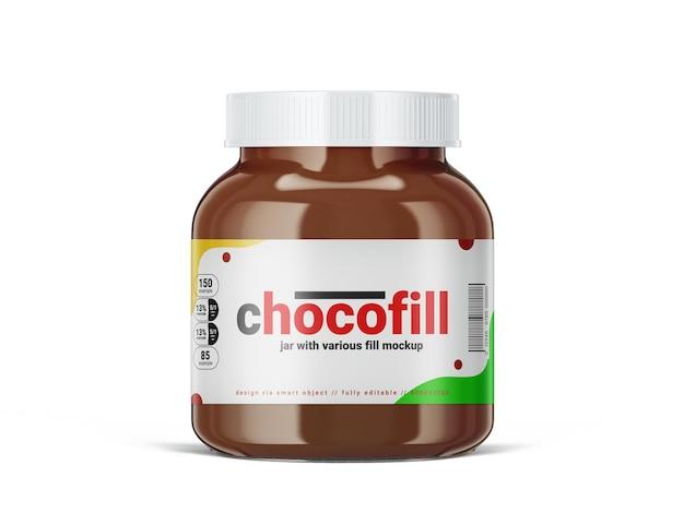Mockupsjabloon voor chocoladeroomfles