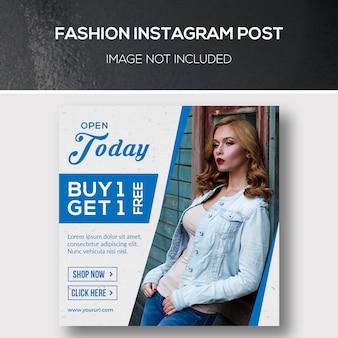 Moda instagram post o modello di banner quadrato