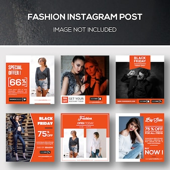 Moda instagram post o modello di banner