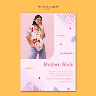 Mode collectie poster sjabloon