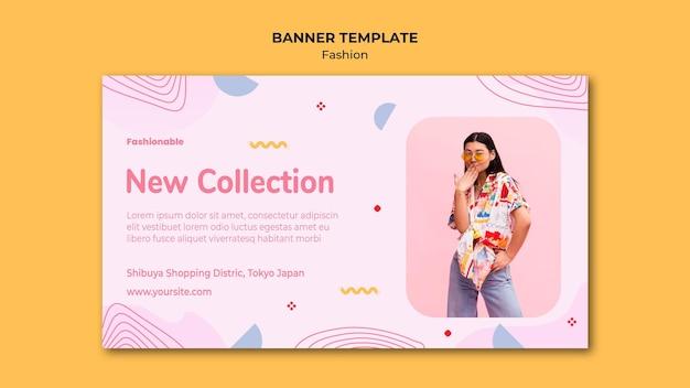 Mode collectie sjabloon voor spandoek