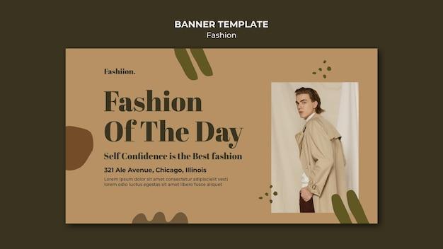 Mode concept sjabloon voor spandoek