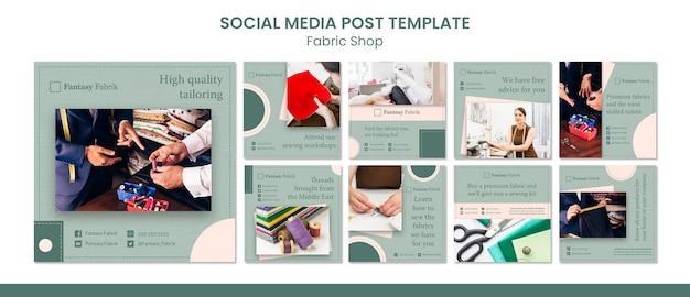 Mode concept sociale media post sjabloon