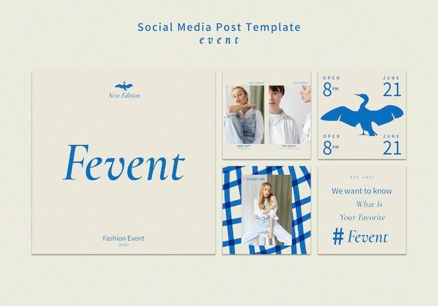 Mode-evenement instagram-berichten