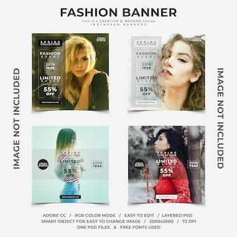 Mode evenement kortingen instagram banners