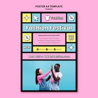 Mode festival poster sjabloon