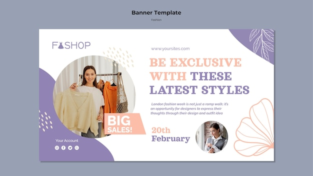 Mode grote verkoop horizontale banner