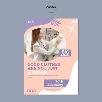 Mode grote verkoop poster sjabloon