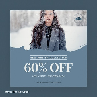 Mode instagram post banner wintercollectie