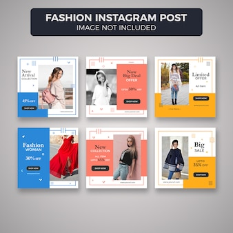 Mode instagram post of banner sjablonen